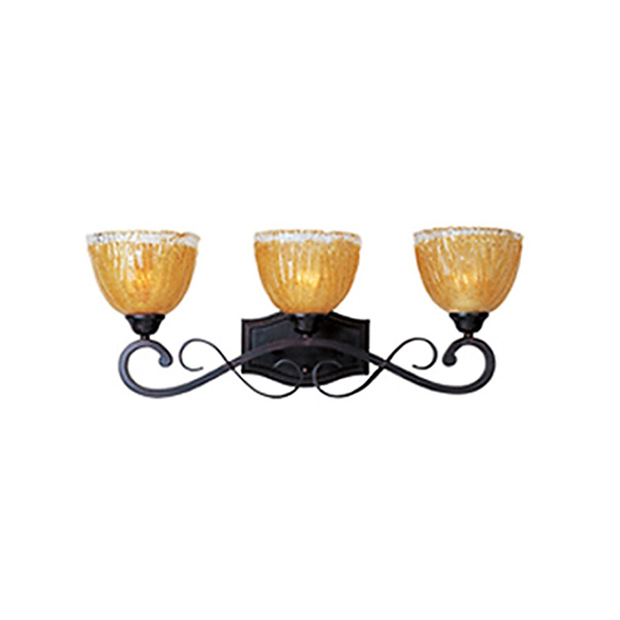 Pyramid Creations Barcelona 3-Light 9.5-in Oil-Rubbed Bronze Vanity Light