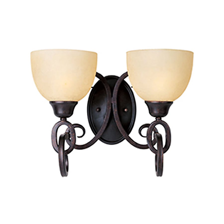 Pyramid Creations Ophelia 2-Light 11-in Colonial Umber Vanity Light