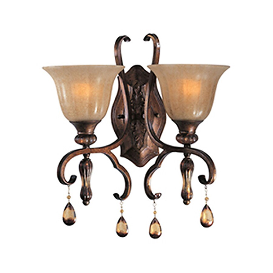 Pyramid Creations Dresden 16-in W 2-Light Arm Wall Sconce