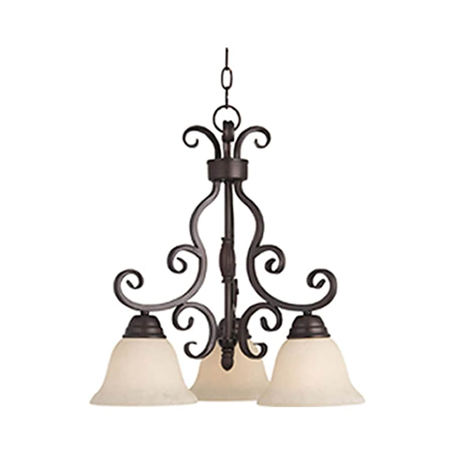 Pyramid Creations Manor 19-in 3-Light Oil-Rubbed bronze Chandelier