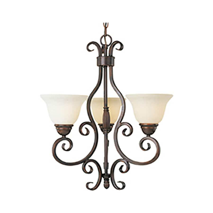 Pyramid Creations Manor 21-in 3-Light Oil-Rubbed bronze Chandelier