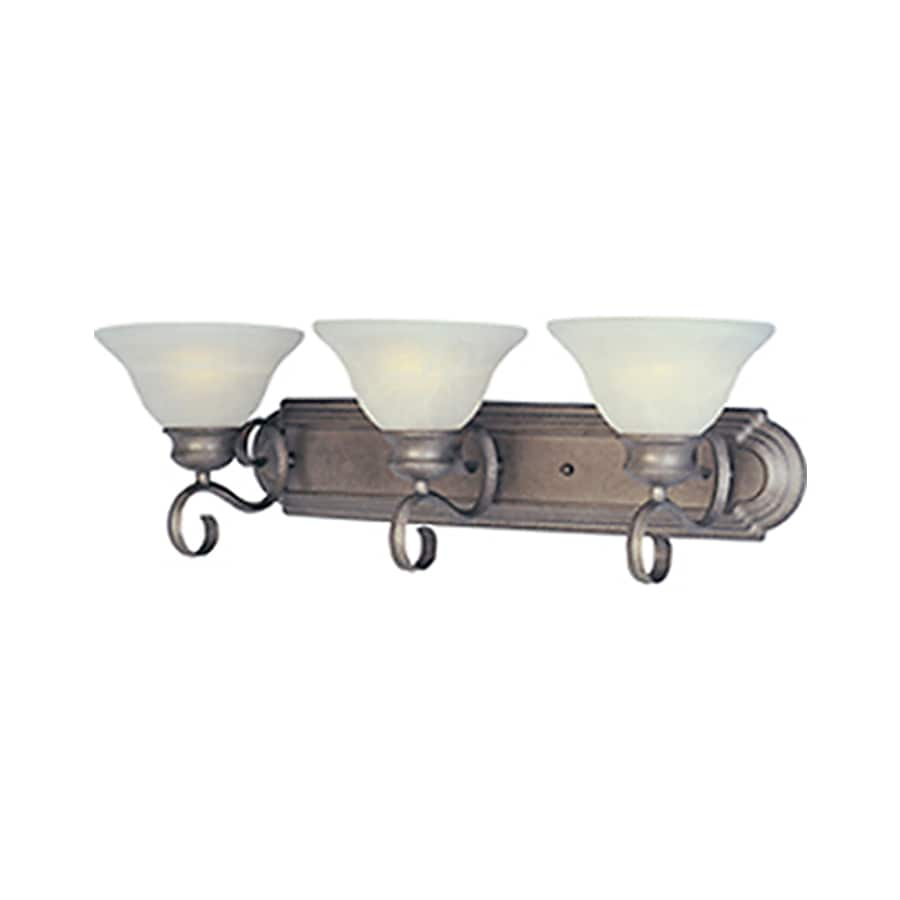 Pyramid Creations Pacific 3-Light 8-in Pewter Bell Vanity Light