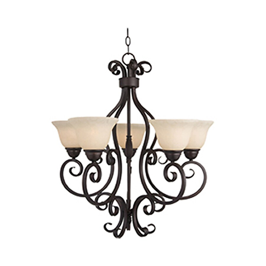 Pyramid Creations Manor 25.5-in 5-Light Oil-Rubbed Bronze Standard Chandelier