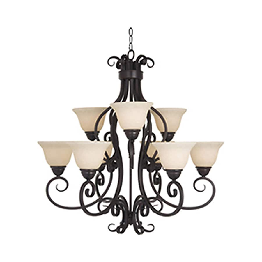 Pyramid Creations Manor 33-in 9-Light Oil-Rubbed Bronze Chandelier