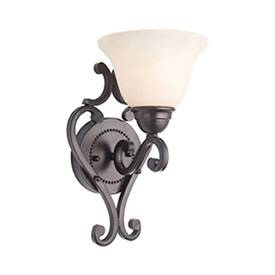 Pyramid Creations Manor 7-in W 1-Light Bronze Arm Wall Sconce