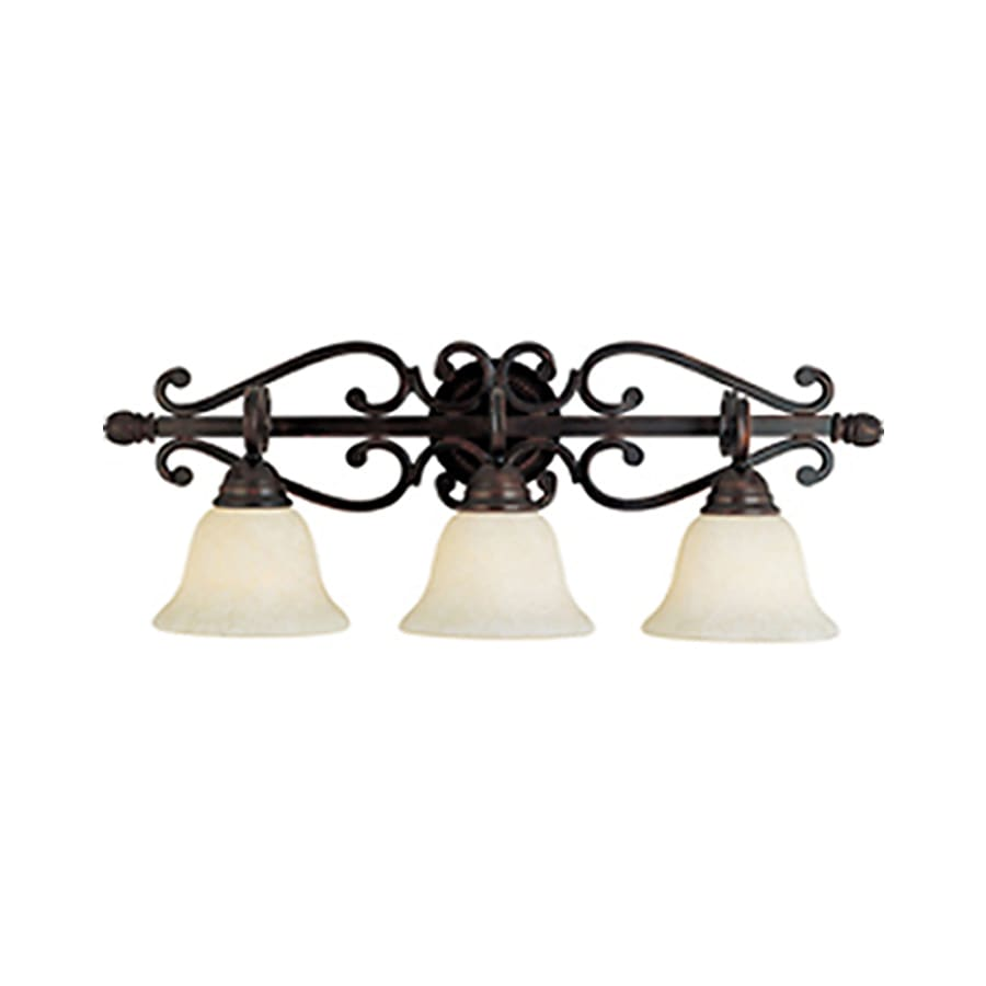 Vanity Lights Oil Rubbed Bronze : Shop Pyramid Creations Manor 3-Light 10.5-in Oil-Rubbed Bronze Bell Vanity Light at Lowes.com