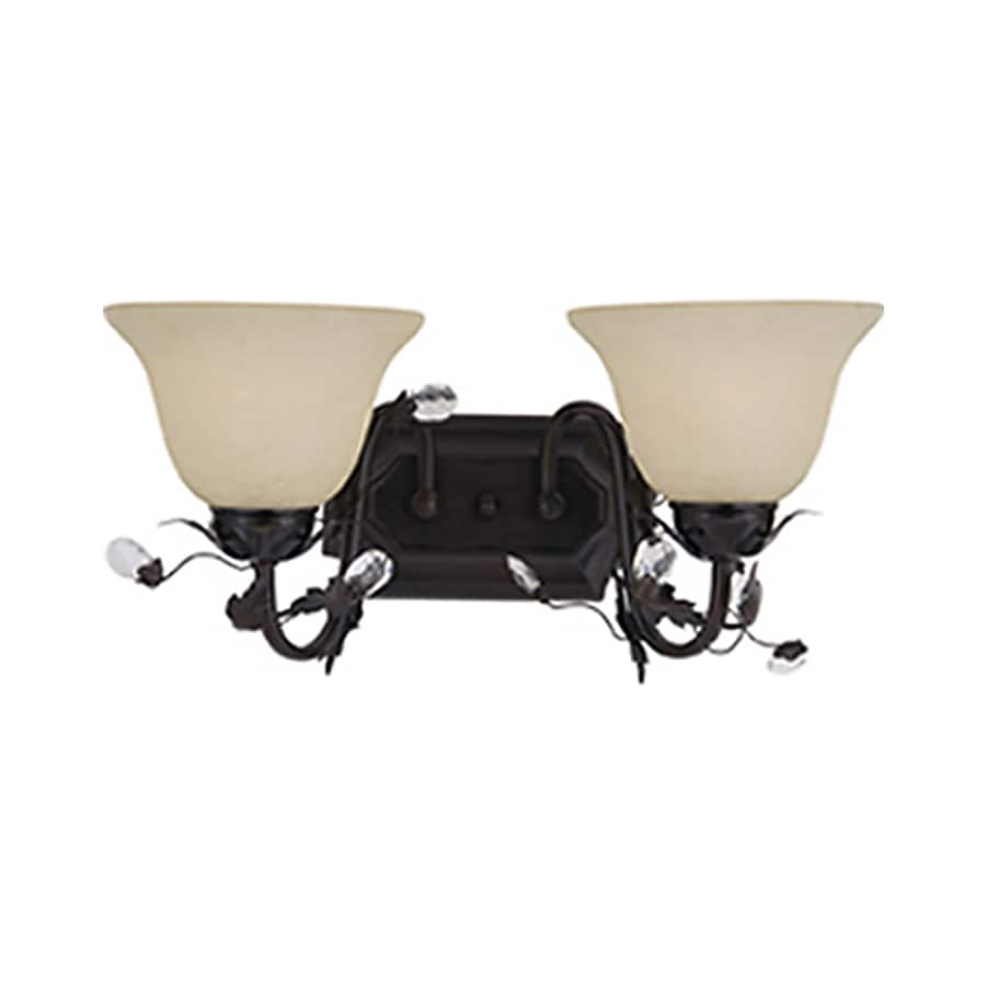Pyramid Creations Elegante 2-Light 8.5-in Oil-Rubbed Bronze Bell Vanity Light