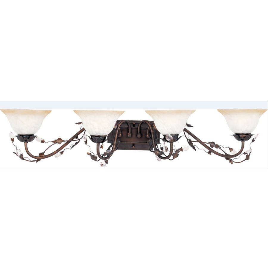 Pyramid Creations Elegante 4-Light 8.5-in Oil-Rubbed Bronze Bell Vanity Light