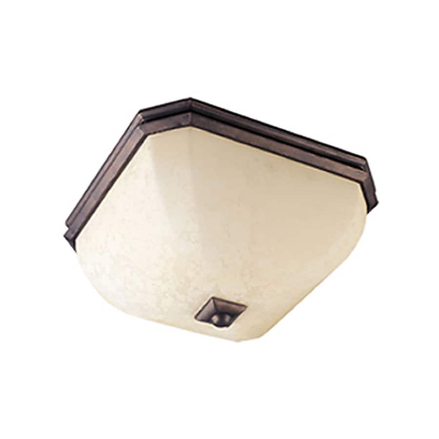 Pyramid Creations 15-in W Rustic Burnished Ceiling Flush Mount Light