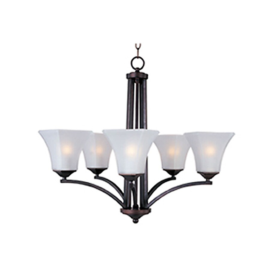 Pyramid Creations Aurora 26-in 5-Light Oil-Rubbed Bronze Chandelier