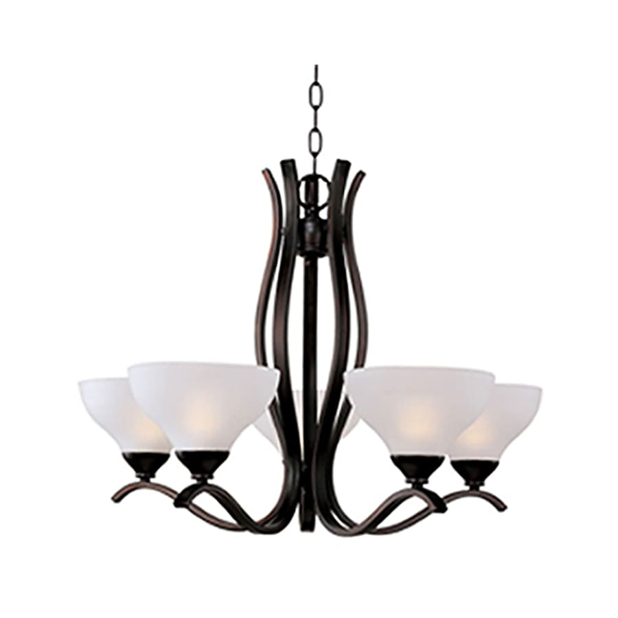 Pyramid Creations Contour 26.5-in 5-Light Oil-Rubbed Bronze Standard Chandelier