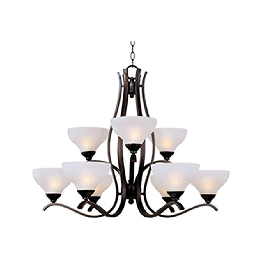 Pyramid Creations Contour 34-in 9-Light Oil-Rubbed Bronze Chandelier