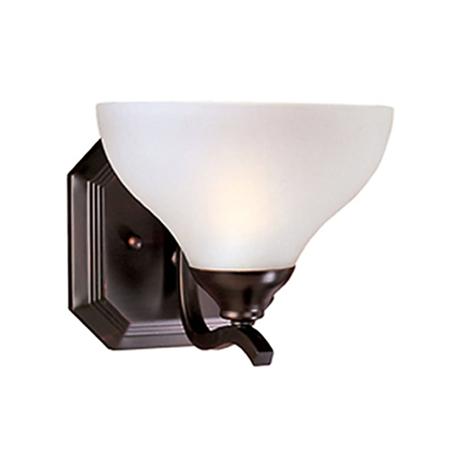 Pyramid Creations Contour 7.5-in W 1-Light Bronze Arm Hardwired Wall Sconce