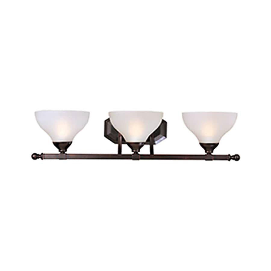 Pyramid Creations Contour 3-Light 7-in Oil-Rubbed Bronze Bell Vanity Light