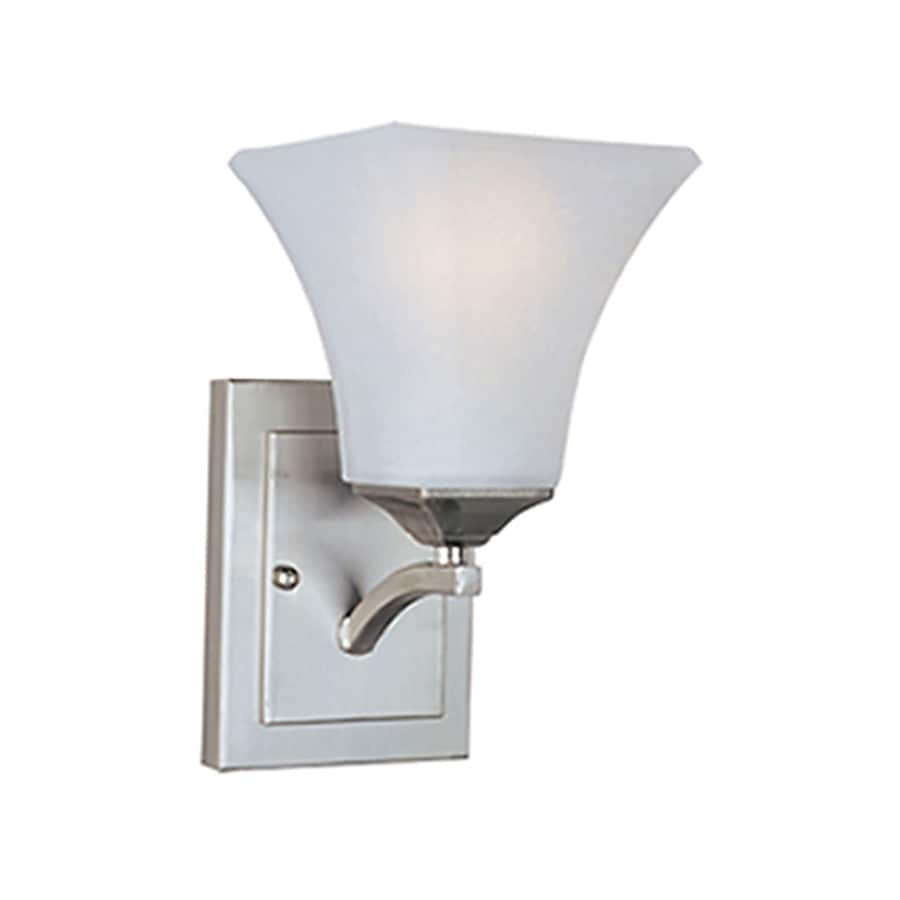 Shop Pyramid Creations Contour 7.5-in W 1-Light Nickel Arm Wall Sconce at Lowes.com