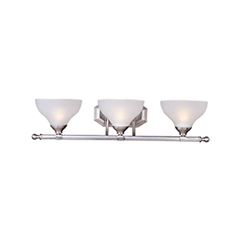 Pyramid Creations Contour 3-Light 7-in Satin Nickel Bell Vanity Light
