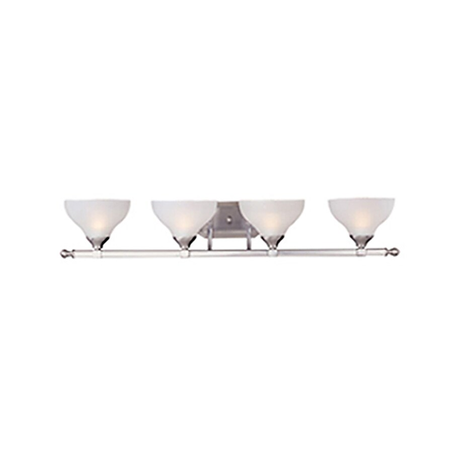 Pyramid Creations Contour 4-Light 7-in Satin Nickel Bell Vanity Light