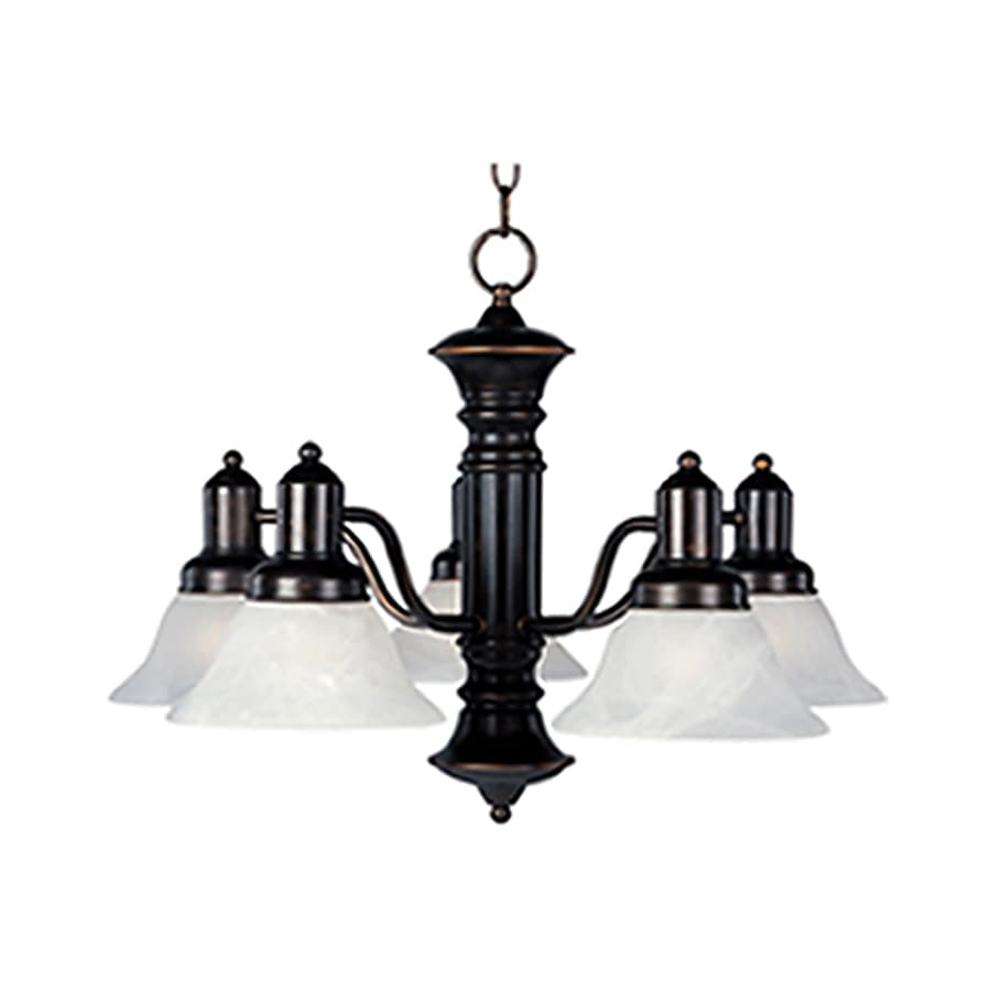 Pyramid Creations Newburg 24.75-in 5-Light Oil-Rubbed bronze Chandelier