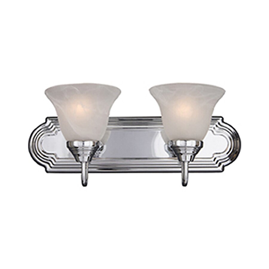 Vanity Lights Polished Chrome : Shop Pyramid Creations Essentialss 2-Light 7-in Polished Chrome Bell Vanity Light at Lowes.com