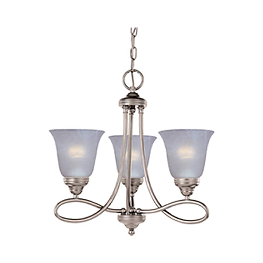 Pyramid Creations Nova 18-in 3-Light Satin nickel Chandelier