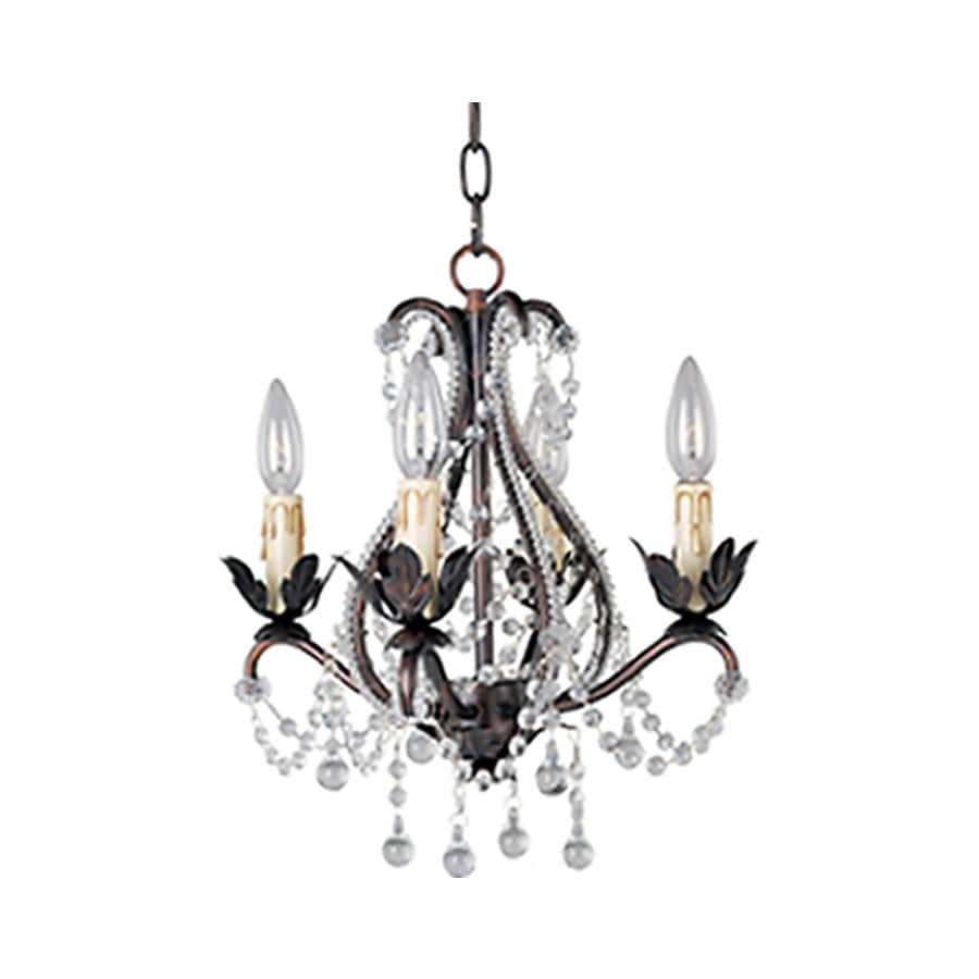 Pyramid Creations Katherine 14-in 4-Light Oil-Rubbed bronze Chandelier