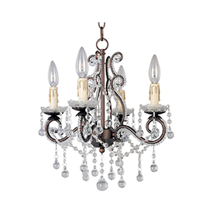 Pyramid Creations Katherine 15-in 4-Light Oil-Rubbed Bronze Standard Chandelier