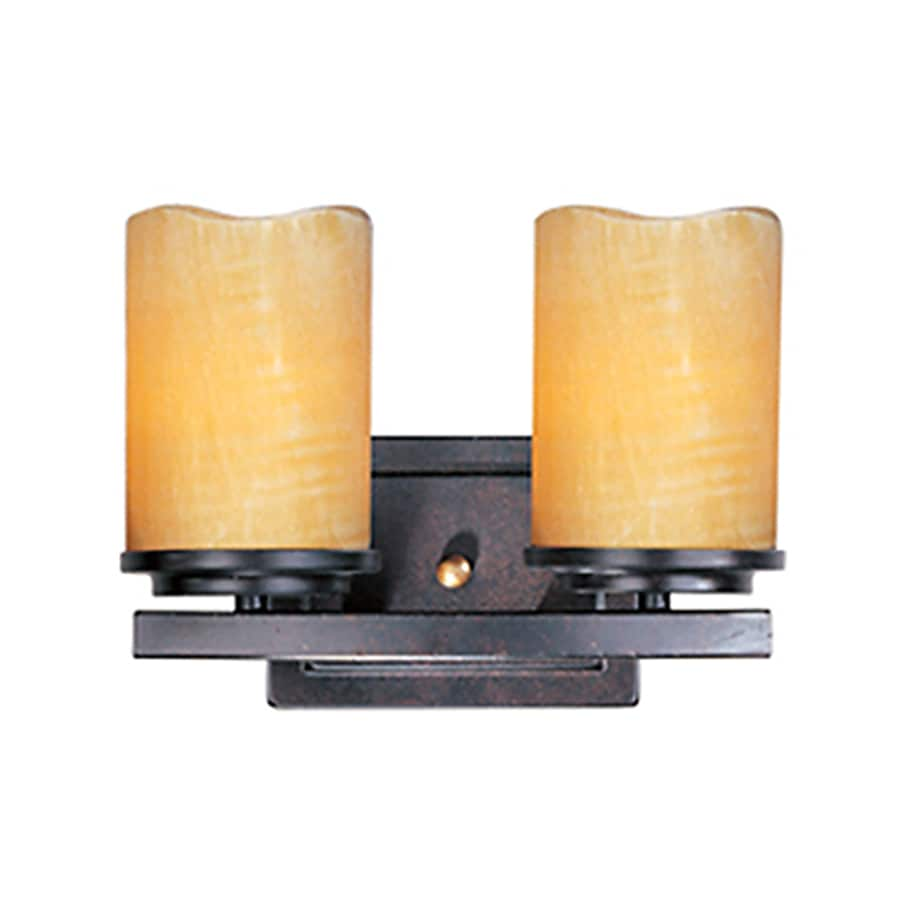 Pyramid Creations Luminous 2-Light Rustic Ebony Cylinder Vanity Light