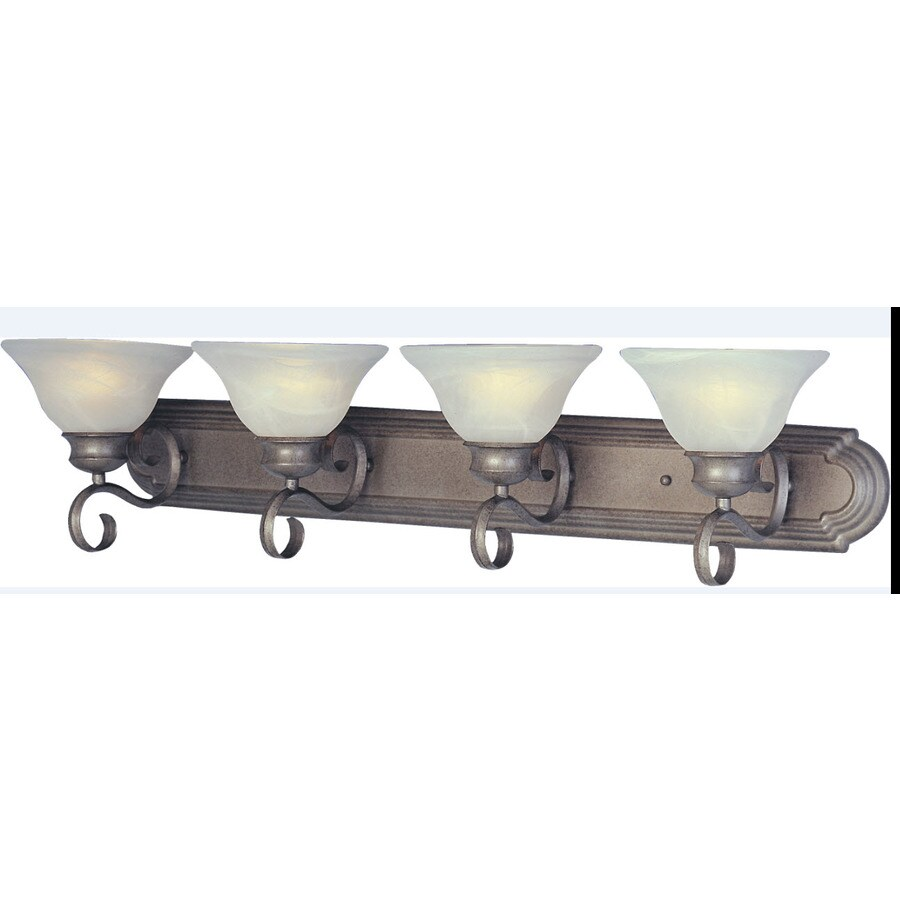 Pyramid Creations Pacific 4-Light 8-in Pewter Bell Vanity Light