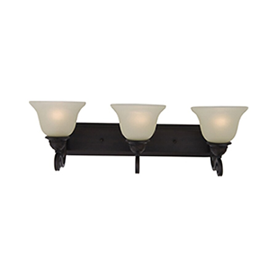 Pyramid Creations Symphony 3-Light 8.5-in Oil-Rubbed Bronze Bell Vanity Light