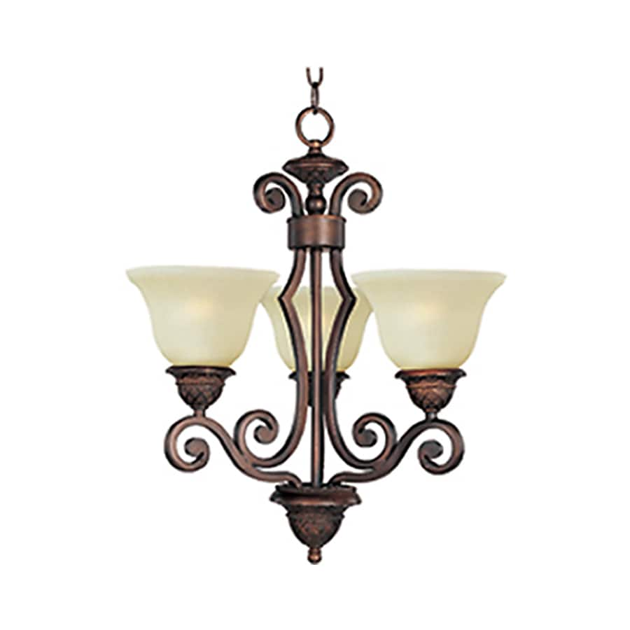 Pyramid Creations Symphony 19-in 3-Light Oil-Rubbed bronze Chandelier