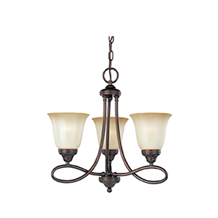 Pyramid Creations Nova 18-in 3-Light Oil-Rubbed bronze Chandelier