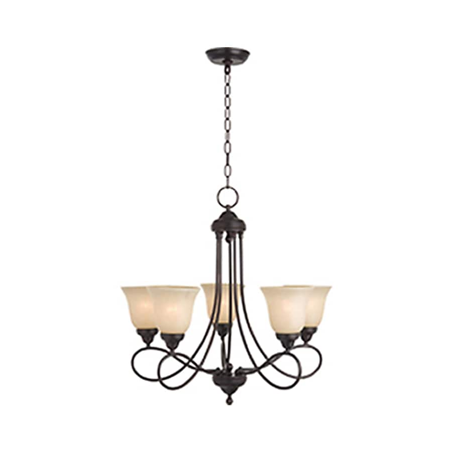 Pyramid Creations Nova 25-in 5-Light Oil-Rubbed bronze Chandelier