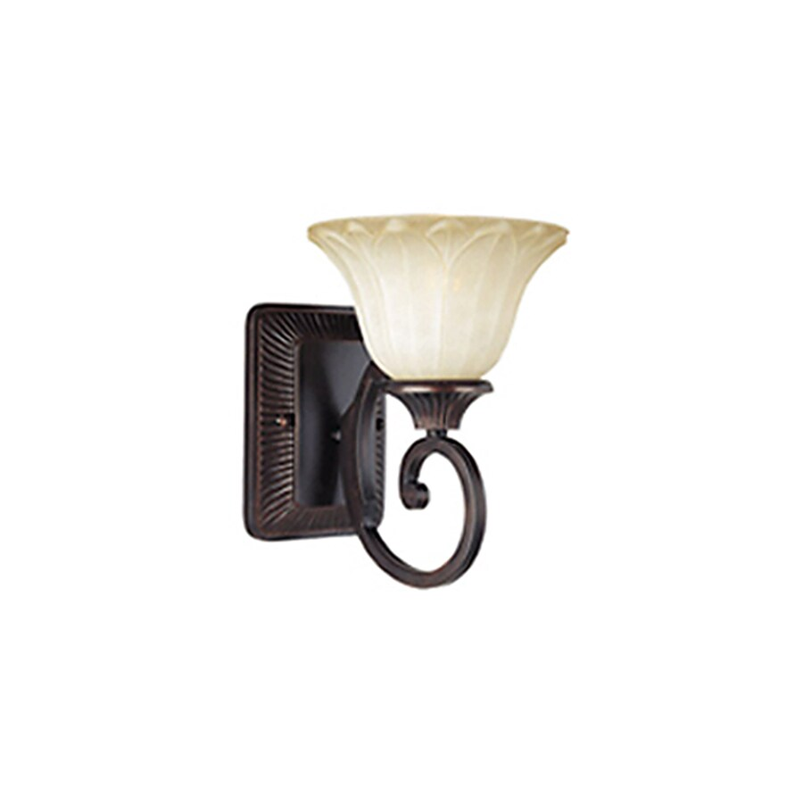 Pyramid Creations Allentown 7-in W 1-Light Bronze Arm Wall Sconce