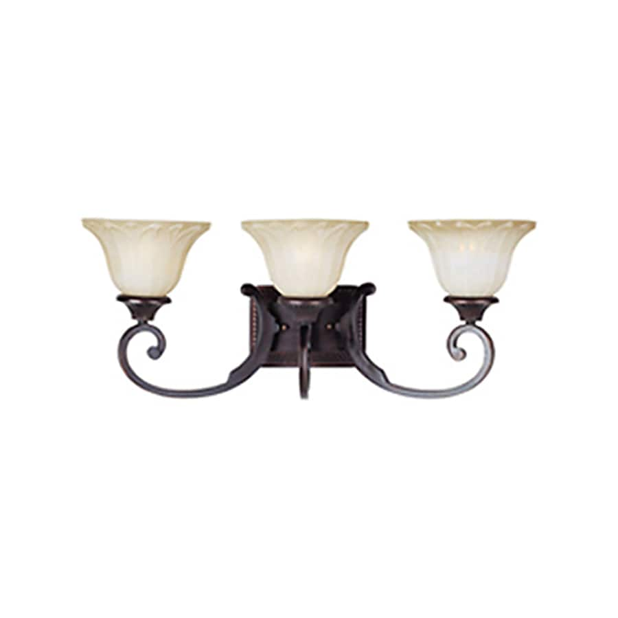 Pyramid Creations Allentown 3-Light 10-in Oil-Rubbed Bronze Bell Vanity Light