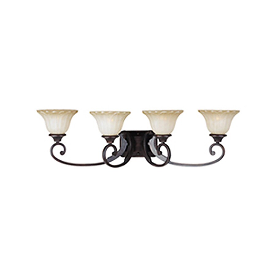 Pyramid Creations Allentown 4-Light Oil-Rubbed Bronze Bell Vanity Light