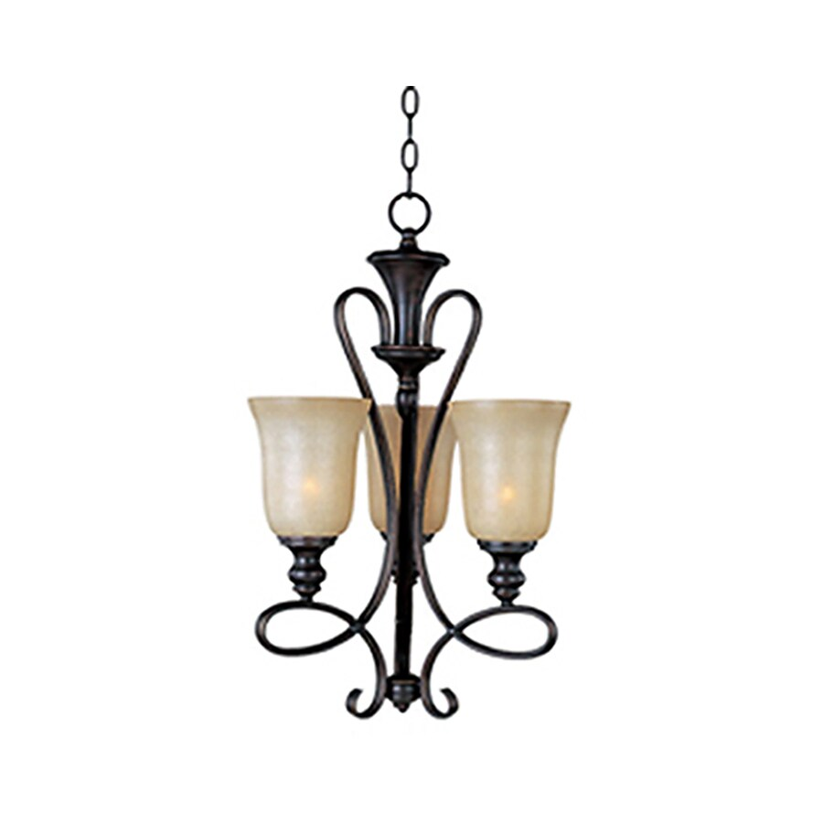 Pyramid Creations Infinity 15.5-in 3-Light Oil-Rubbed Bronze Chandelier