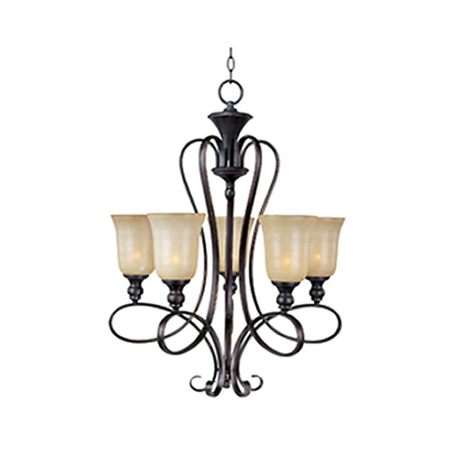 Pyramid Creations Infinity 25-in 5-Light Oil-Rubbed Bronze Chandelier