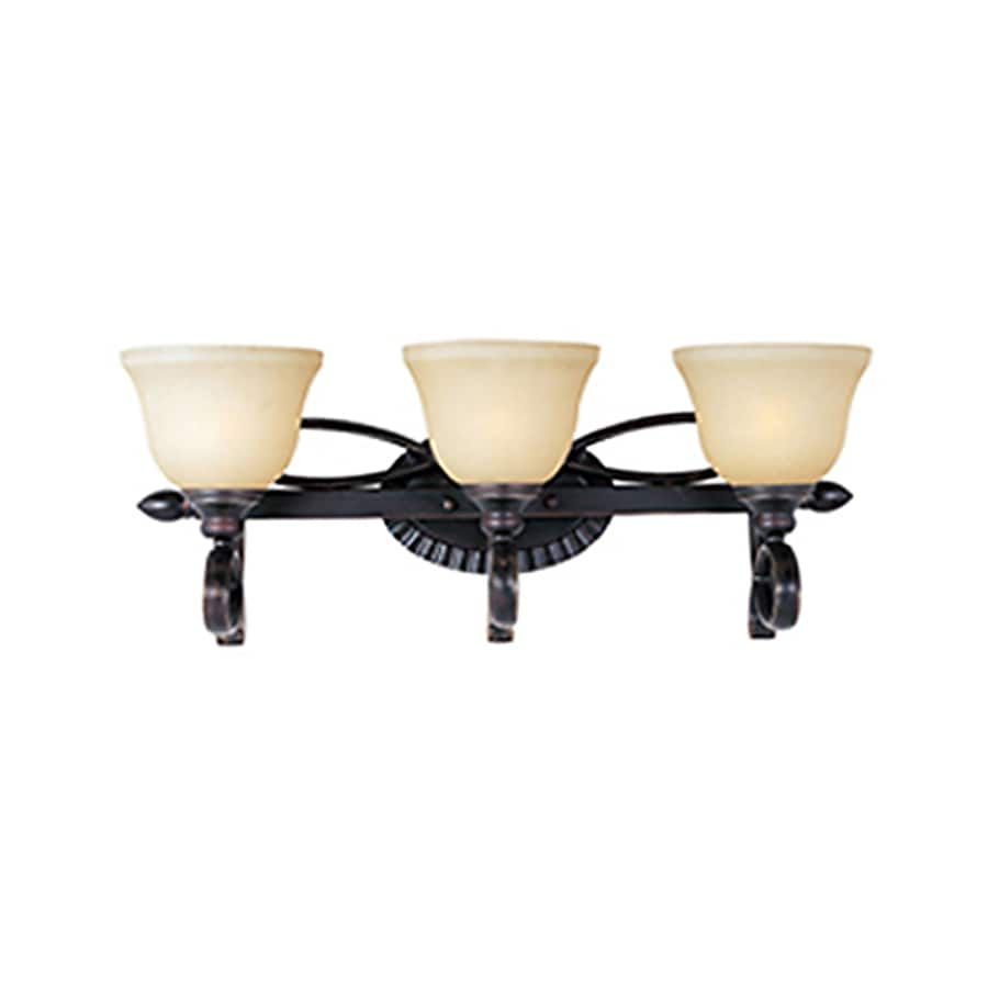 Pyramid Creations Infinity 3-Light 9.5-in Oil-Rubbed Bronze Bell Vanity Light