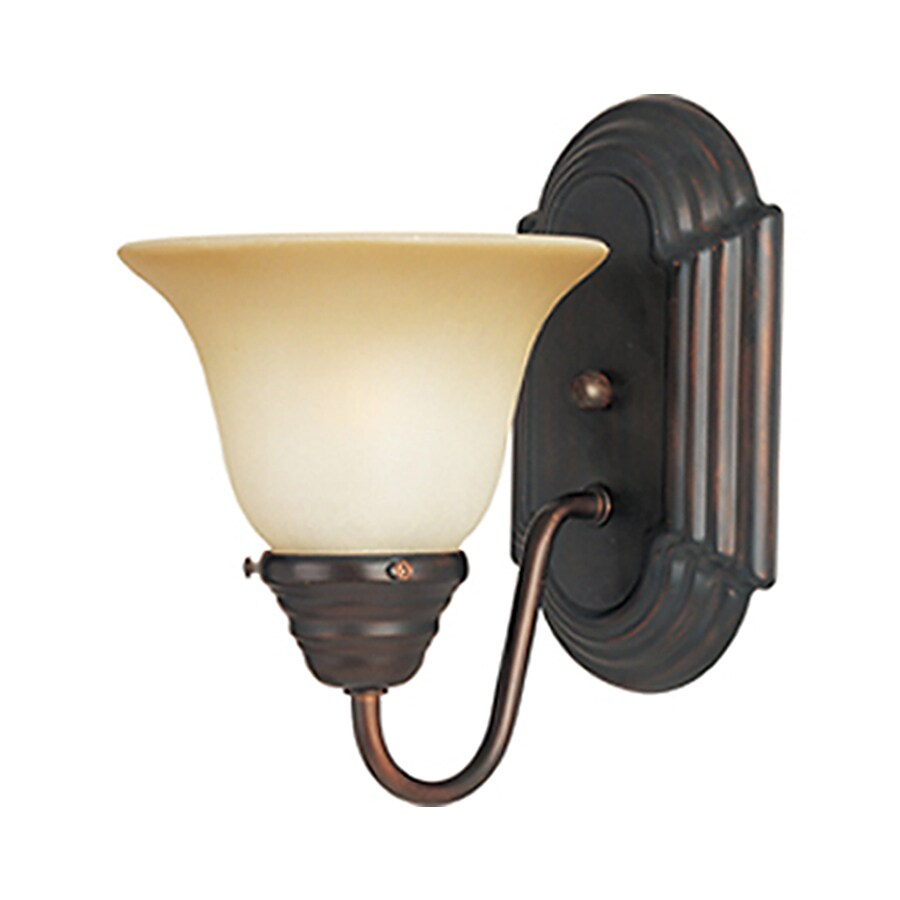 Pyramid Creations Essentials 6-in W 1-Light Bronze Arm Wall Sconce
