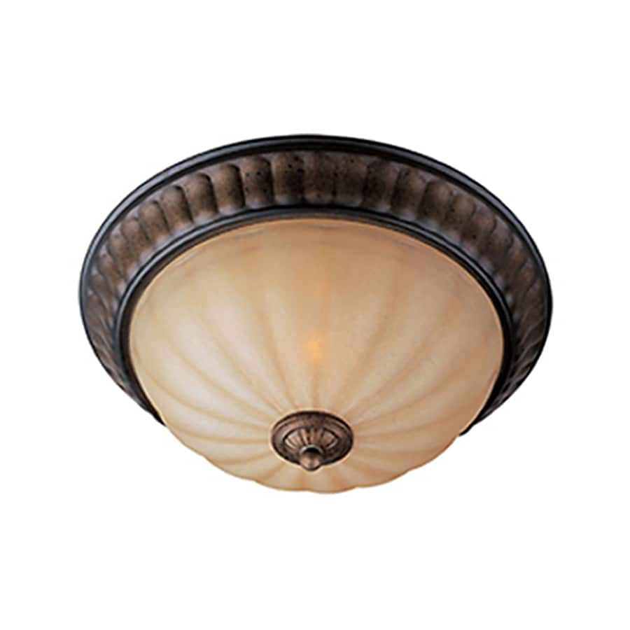 Pyramid Creations 15-in W Platinum Dusk Standard Flush Mount Light