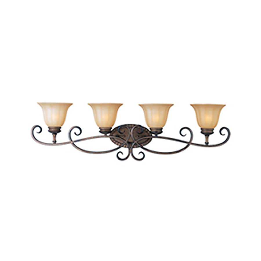 Pyramid Creations Fremont 4-Light 11-in Platinum dusk Bell Vanity Light