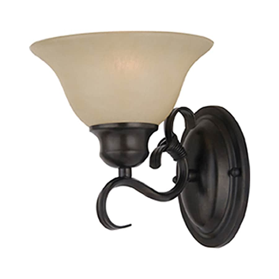 Pyramid Creations Pacific 7.5-in W 1-Light Bronze Arm Wall Sconce