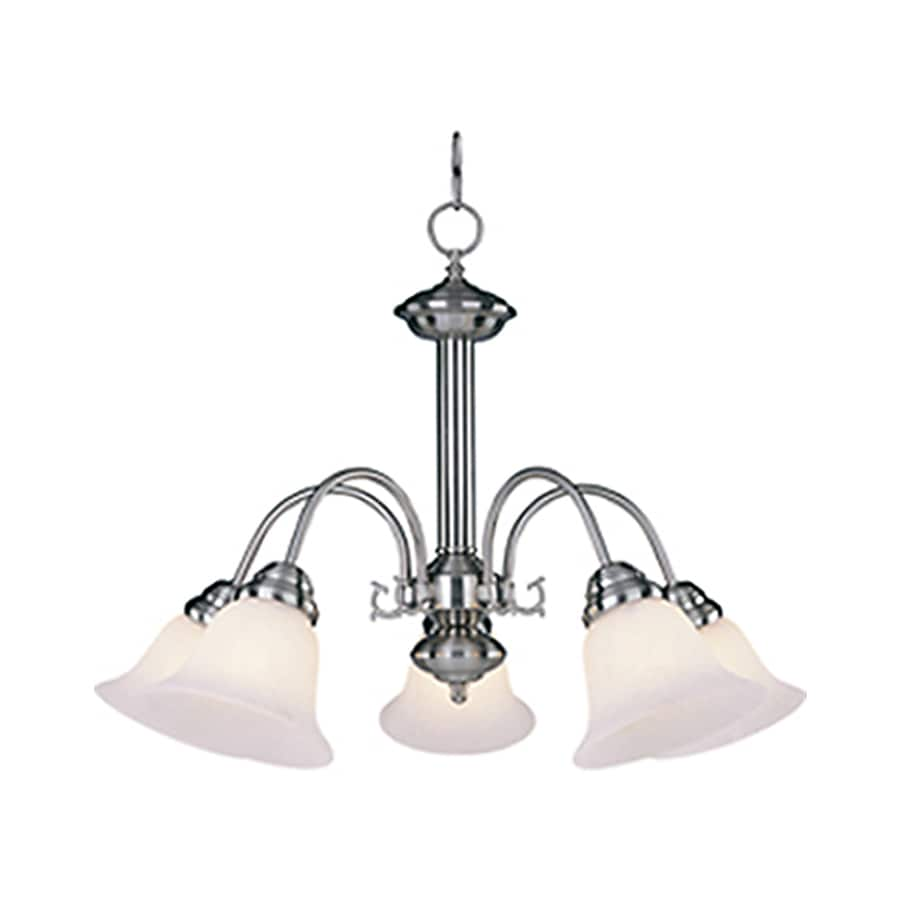 Pyramid Creations Malibu 24-in 5-Light Satin Nickel Chandelier