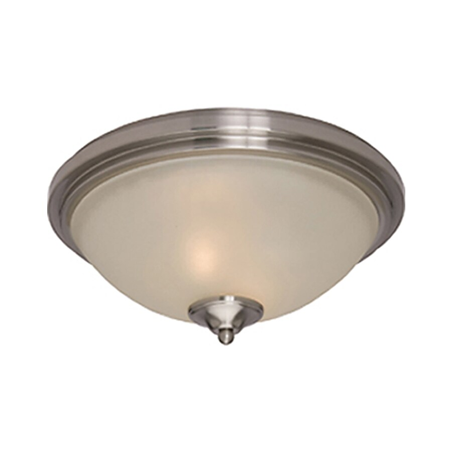 Pyramid Creations 14-in W Satin-Nickel Ceiling Flush Mount Light