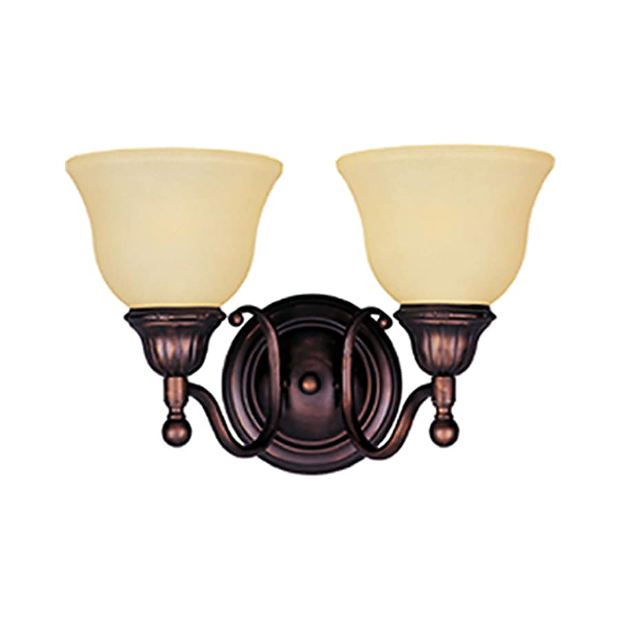 Pyramid Creations Soho 2-Light 9-in Oil-Rubbed Bronze Bell Vanity Light
