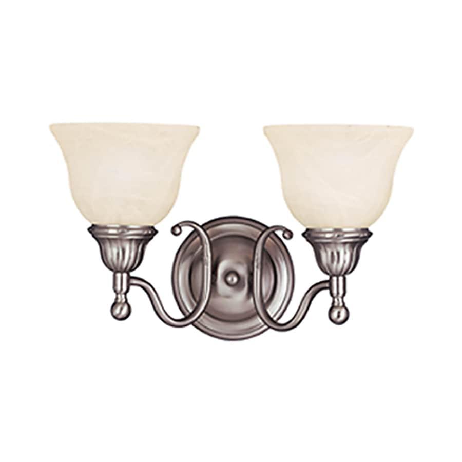 Pyramid Creations Soho 2-Light 9-in Satin nickel Bell Vanity Light