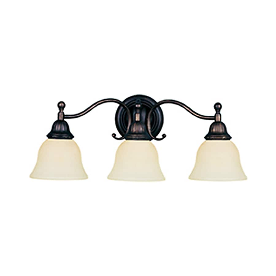 Pyramid Creations Soho 3-Light 9-in Oil-Rubbed Bronze Bell Vanity Light