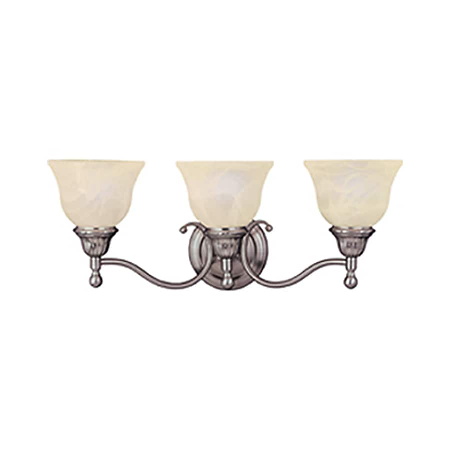 Pyramid Creations Soho 3-Light 9-in Satin Nickel Bell Vanity Light