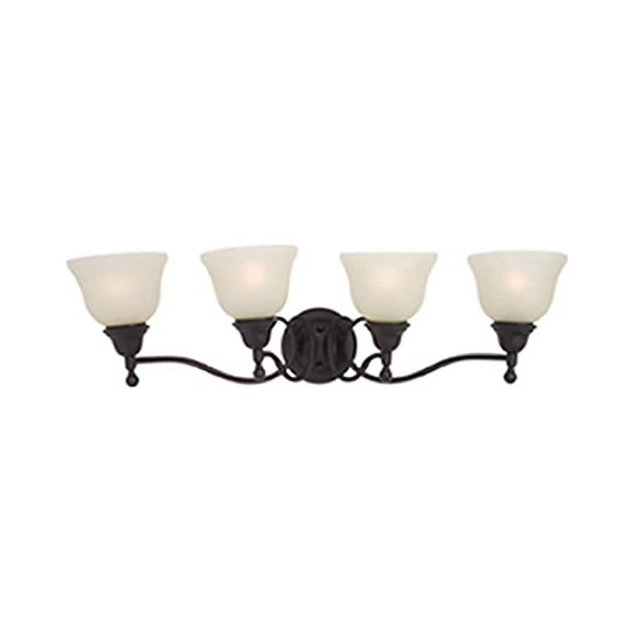 Pyramid Creations Soho 4-Light 9-in Oil-Rubbed Bronze Bell Vanity Light
