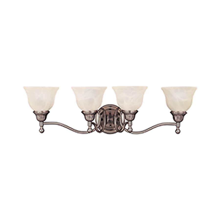 Pyramid Creations Soho 4-Light 9-in Satin nickel Bell Vanity Light